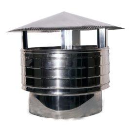 Καπέλο Καμινάδας Αντιανεμικό Στρόγγυλη Βάση